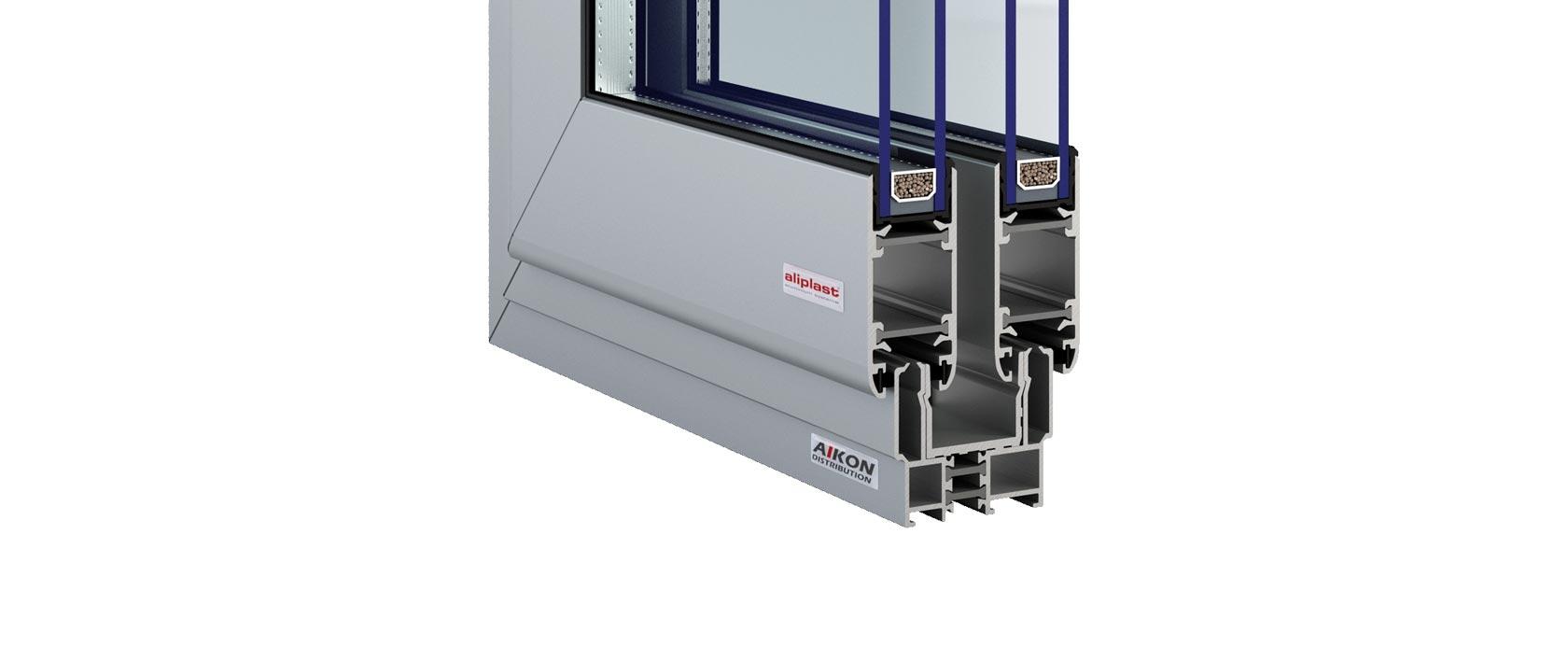 Porte coulissante aluminium for Porte fenetre alu coulissante
